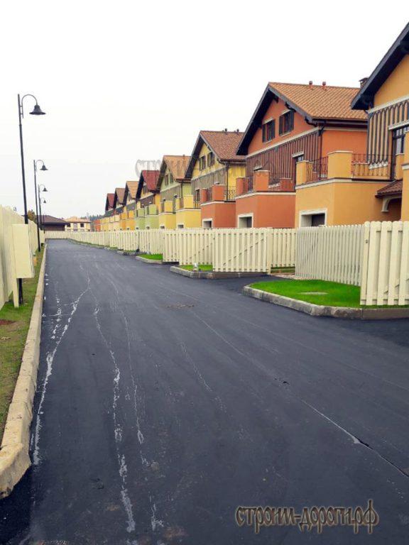 Готовая дорога после строительства