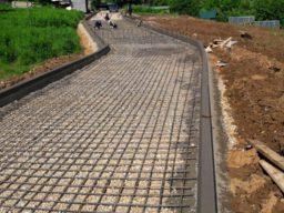 Армирование дорожной сеткой